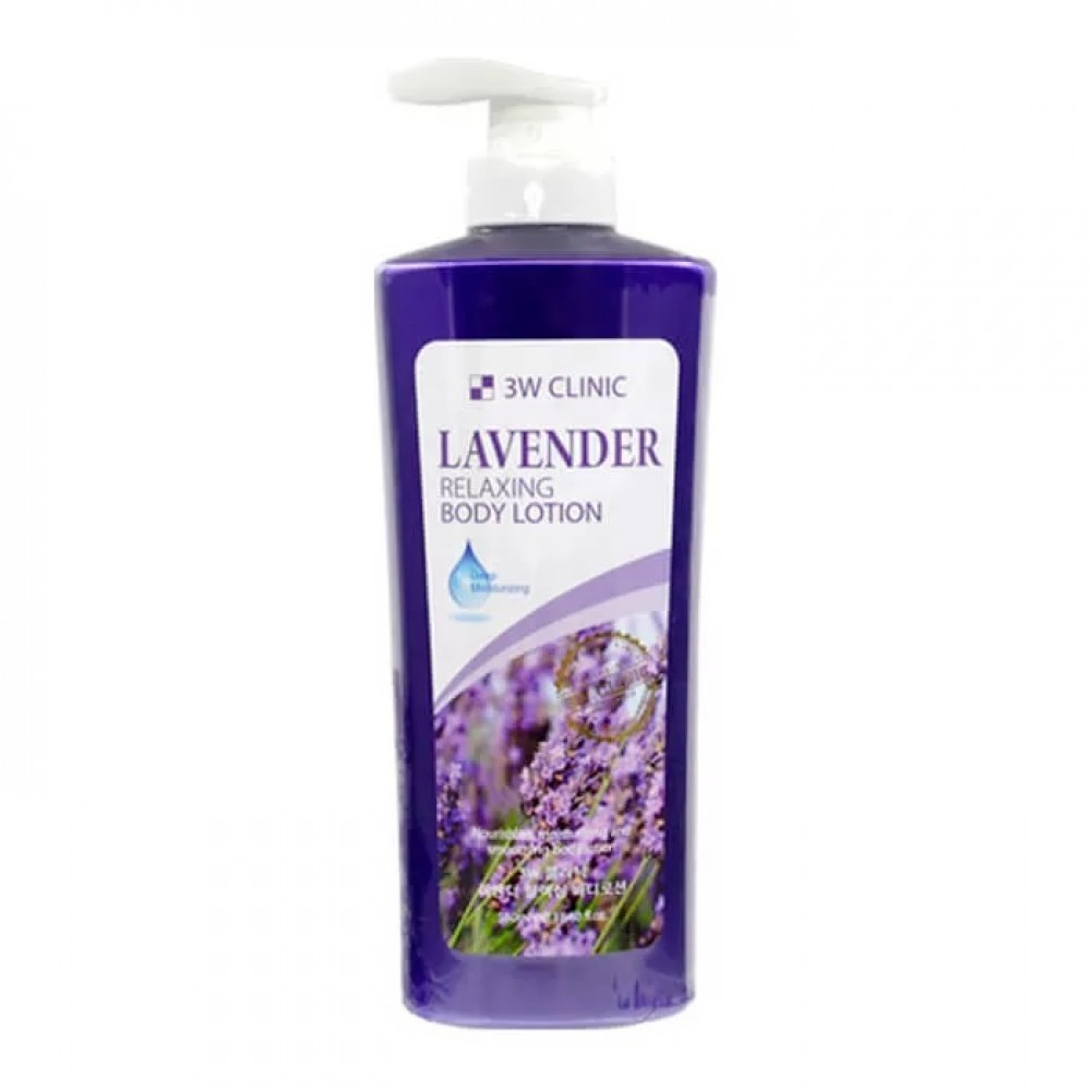 3W Clinic Relaxing Body Lotion Lavender Лосьон для тела с ароматом лаванды