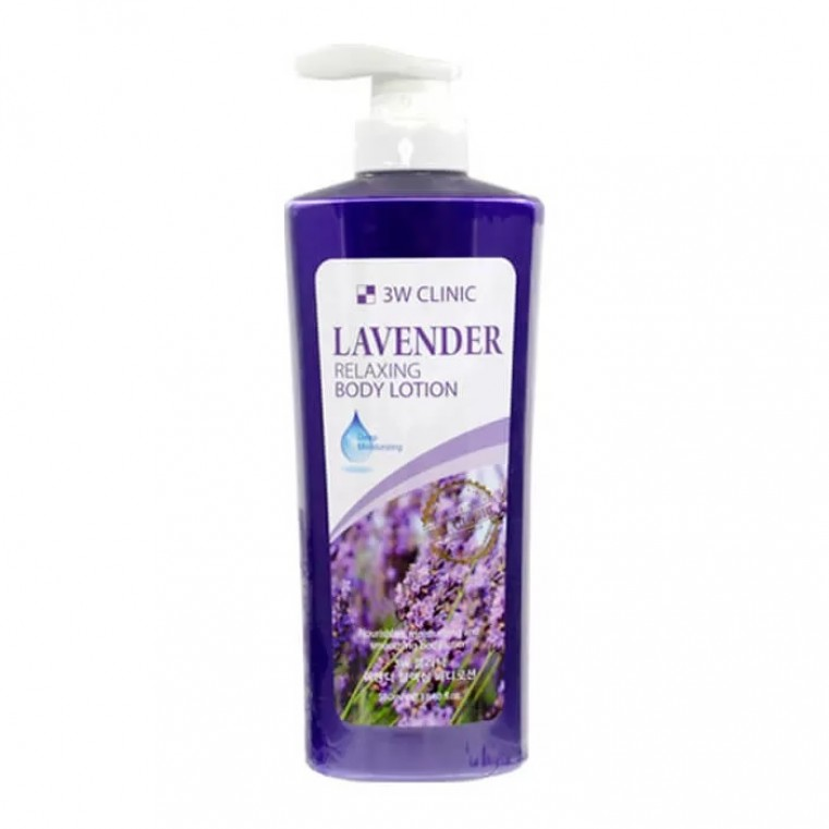 3W Clinic Relaxing Body Lotion Lavender Лосьон для тела с ароматом лаванды