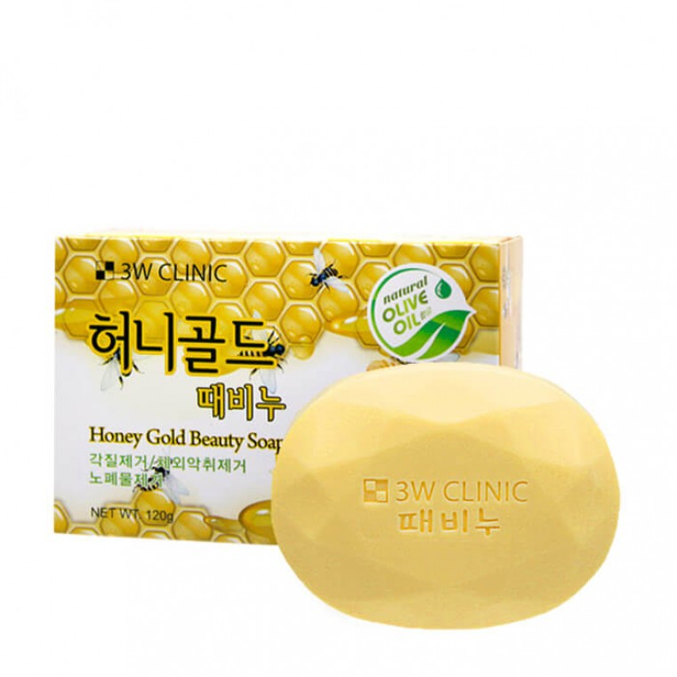 3W Clinic Honey Gold Beauty Soap Мыло с медом