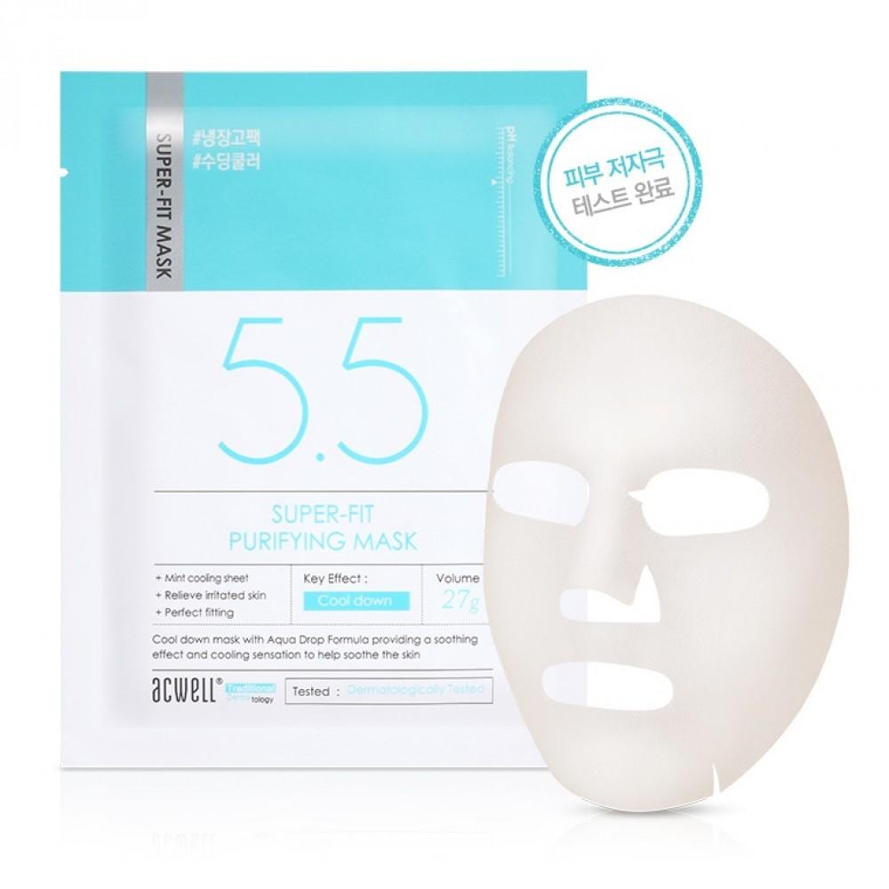 Acwell Super-Fit Purifying Mask Успокаивающая тканевая маска для проблемной кожи