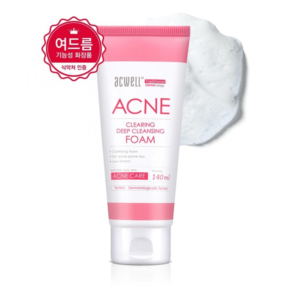 ACWELL Acne Clearing Deep Cleansing Foam Противовоспалительная пенка для глубокого очищения