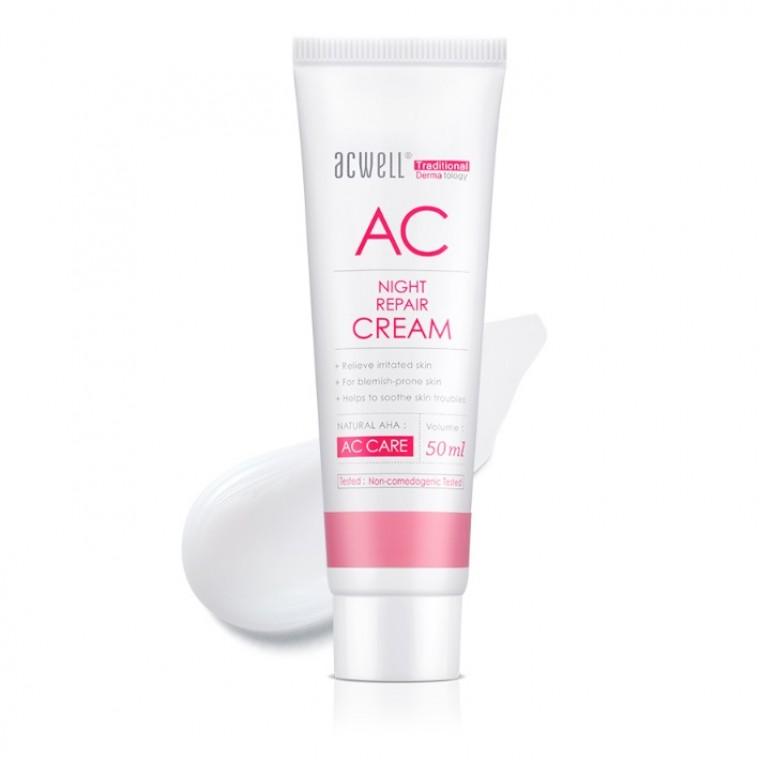 ACWELL AC Night Repair Cream Ночной восстанавливающий крем для проблемной кожи