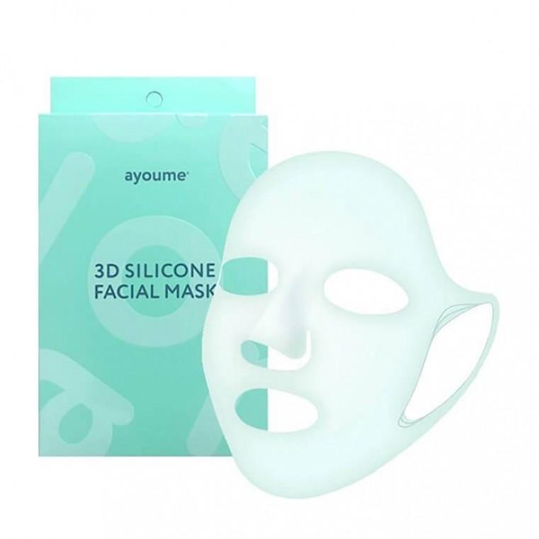 AYOUME 3D Silicone Facial Mask Многоразовая силиконовая 3D маска для усиления эффекта тканевых и гидрогелевых масок