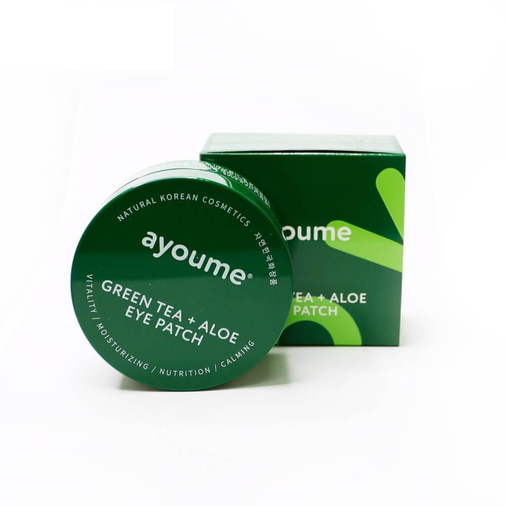Ayoume Green Tea + Aloe Eye Patch Патчи с экстрактами зеленого чая и алое