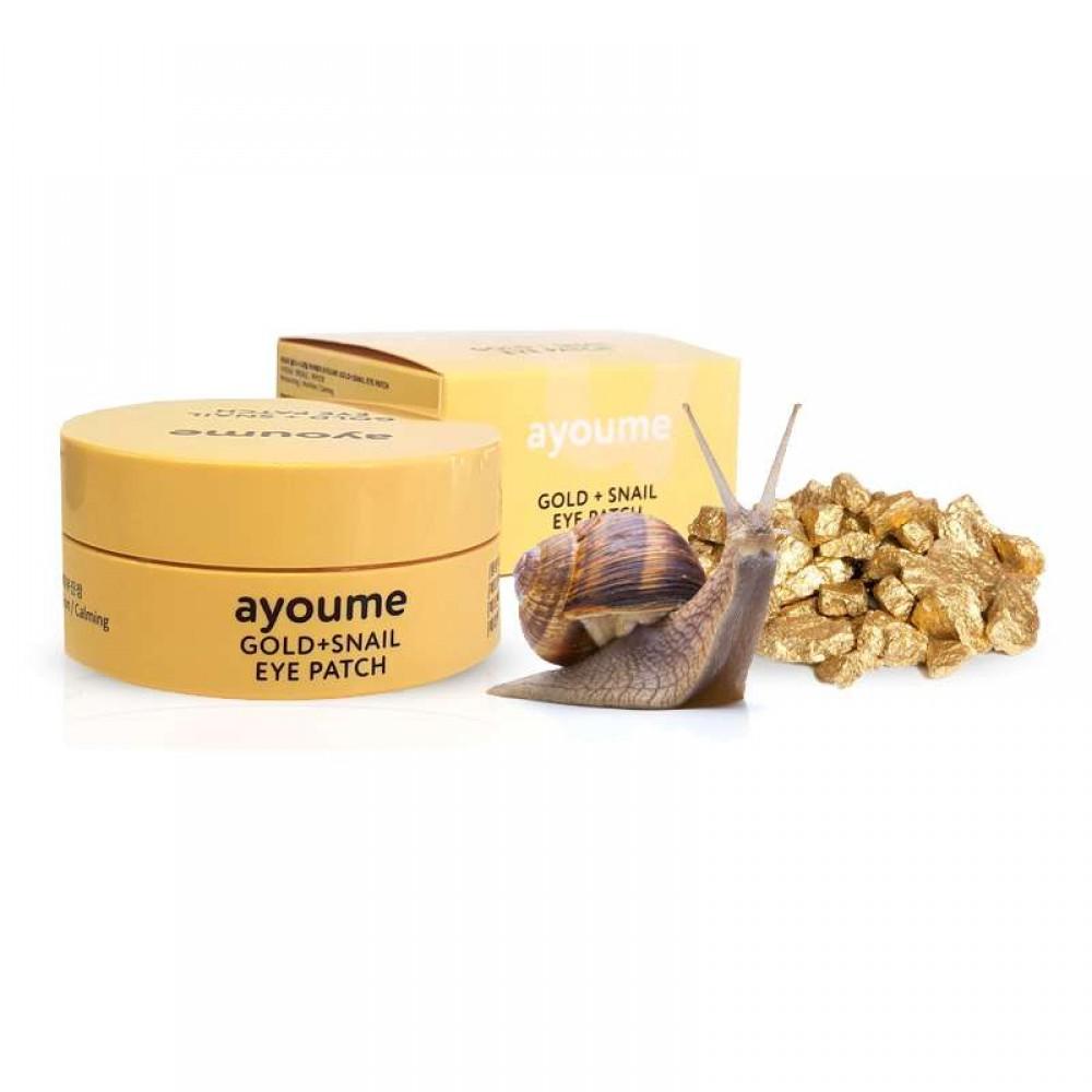 Ayoume Gold + Snail Eye Patch Патчи с золотом и улиточным муцином
