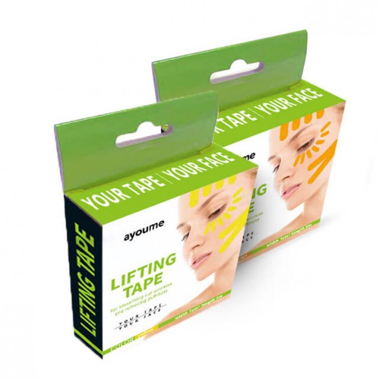 Ayoume Kinesiology Tape Roll Кинезио тейп для лица 1см*5м Жёлтый