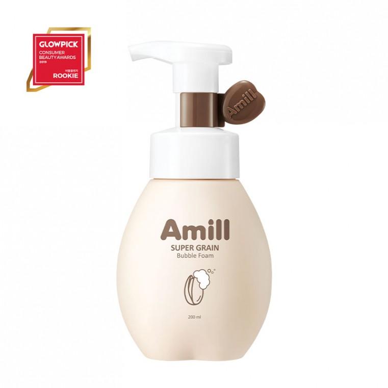 Amill Super Grain Bubble Foam Пузырьковая пенка для умывания с зерновыми экстрактами, 200мл.