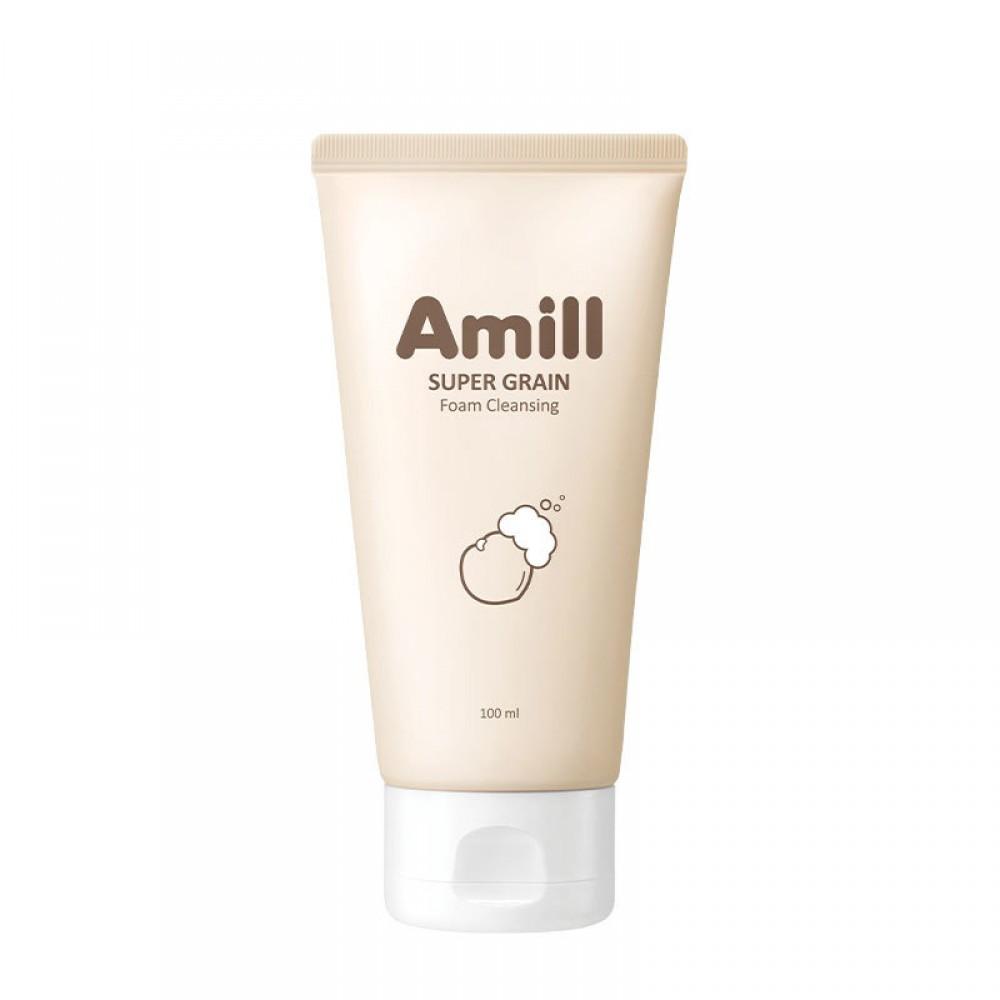 Amill Super Grain Foam Cleansing Пенка для умывания с зерновыми экстрактами, 100мл.