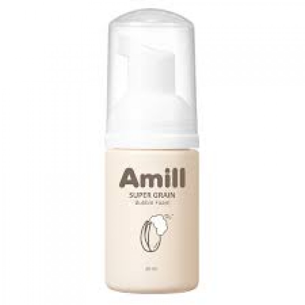 Amill Super Grain Bubble Foam Пузырьковая пенка для умывания с зерновыми экстрактами