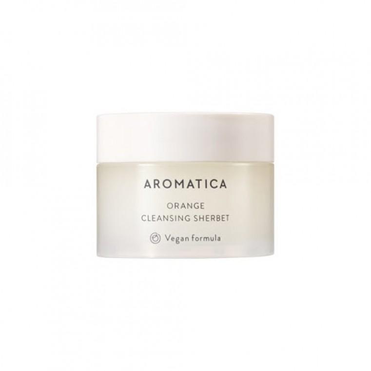 Aromatica Orange Cleansing Sherbet Очищающий щербет для лица с маслом канолы и маслом семян бабассу, 12мл