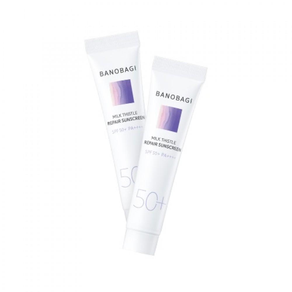 BanoBagi Milk Thistle Repair Sunscreen Солнцезащитный восстанавливающий крем для чувствительной кожи SPF 50+ PA++++