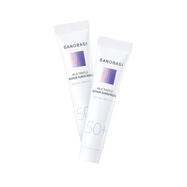 BanoBagi Milk Thistle Repair Sunscreen Солнцезащитный восстанавливающий крем для чувствительной кожи SPF 50+ PA++++, 15мл