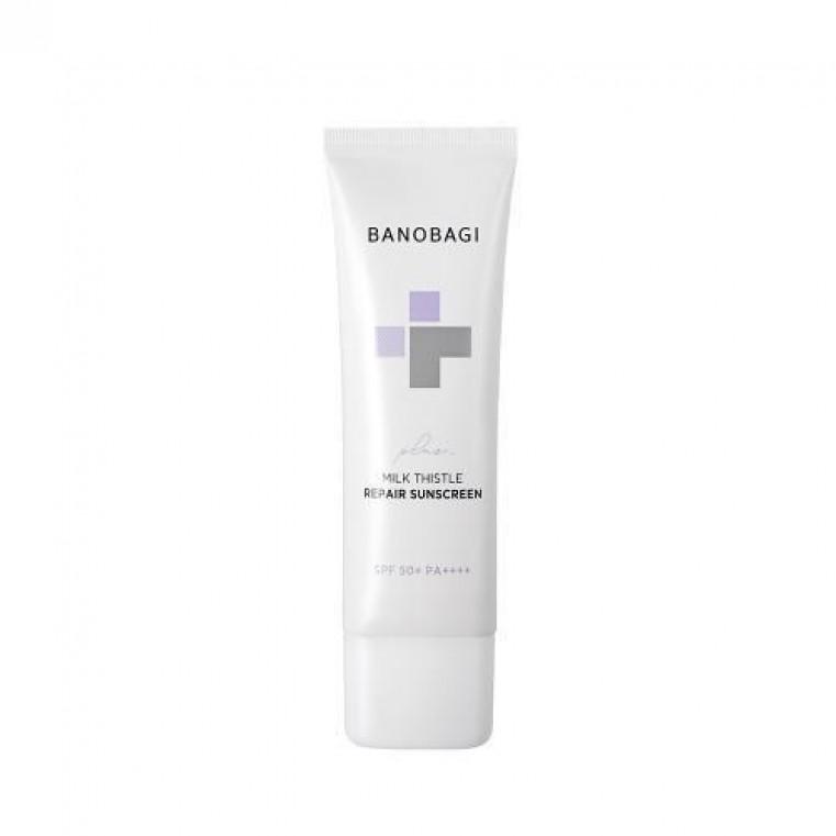 Banobagi Milk Thistle Repair Sunscreen Plus Солнцезащитный восстанавливающий крем для чувствительной кожи SPF 50+ PA++++