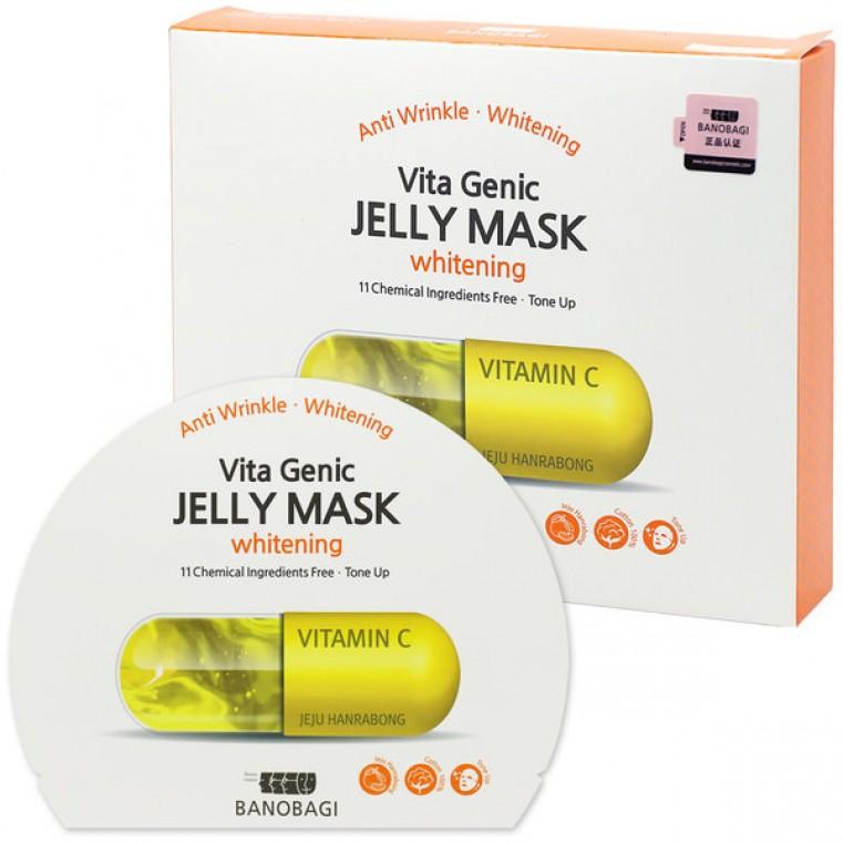 BanoBagi Vita Genic Whitening Jelly Mask - Маска тканевая с витамином С на основе липосомного желе для сияния