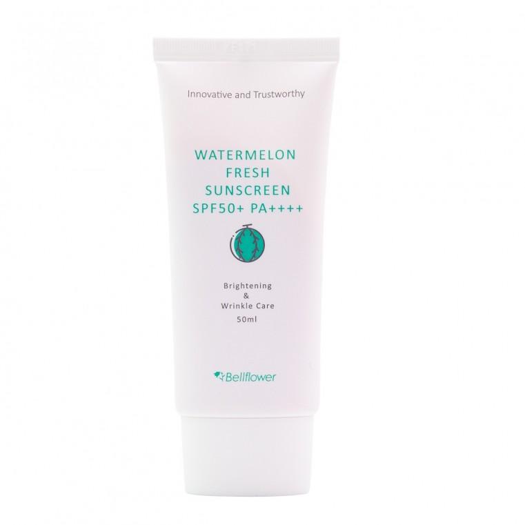 BellFlower Watermelon Fresh Sunscreen Солнцезащитный крем с арбузом SPF50+ PA++++