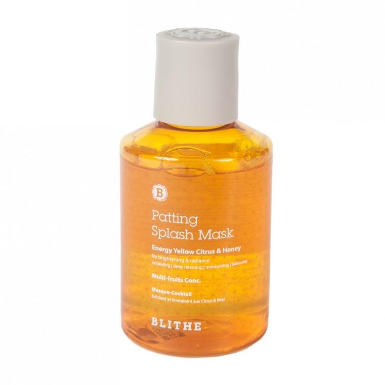 Blithe Patting Splash Mask Energy Yellow Citrus & Honey Сплэш-маска для сияния «Энергия цитрус и мед», 150мл.