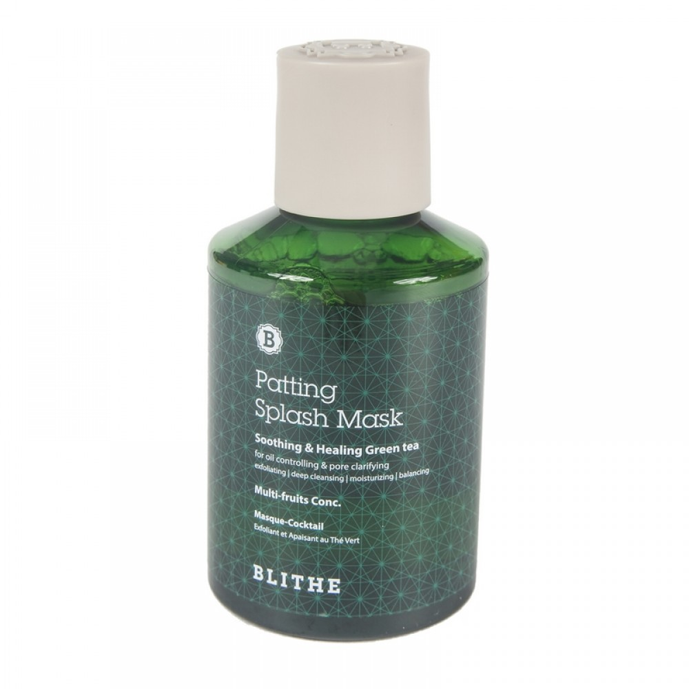 Blithe Patting Splash Mask Soothing & Healing Green Tea Сплэш-маска для восстановления «Смягчающий и заживляющий зеленый чай», 150мл.