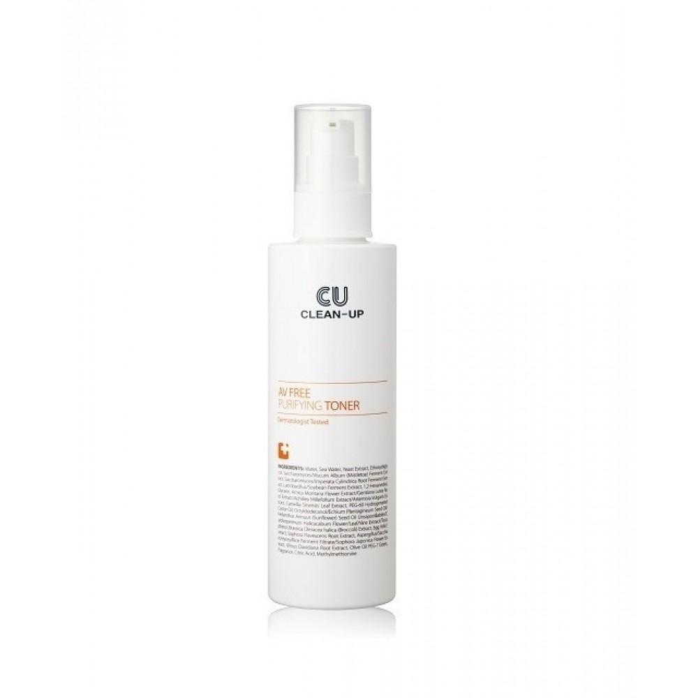 CU SKIN AV FREE Purifying Toner Тонер для проблемной кожи c центеллой, пробиотиками и витамином U