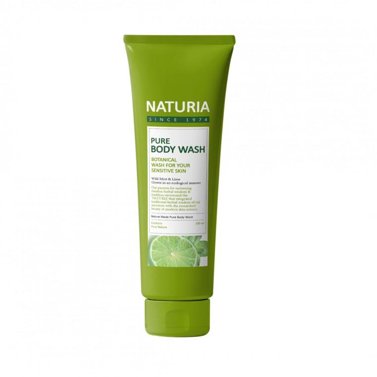 Naturia Pure Body Wash Wild Mint & Lime Гель для душа на основе натуральных экстрактов с ароматом мяты, эвкалипта и лайма