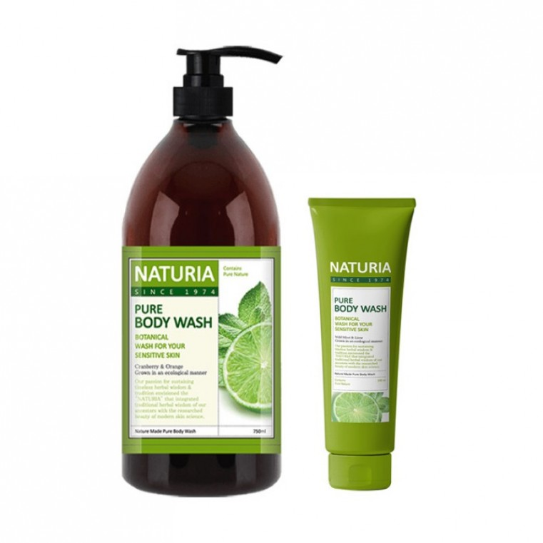 EVAS Naturia Pure Body Wash Wild Mint & Lime Гель для душа с ароматом мяты, эвкалипта и лайма