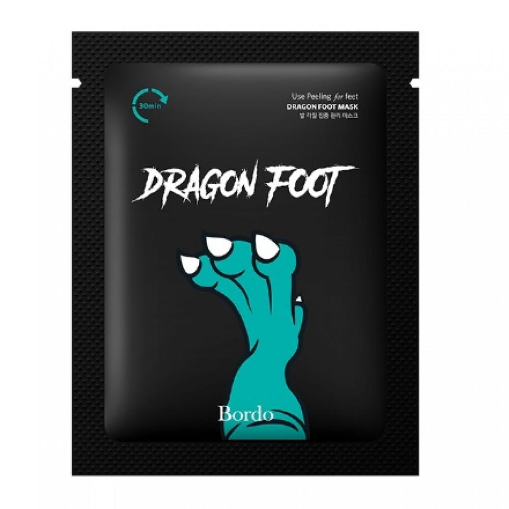 Evas Bordo Cool Dragon Foot Peeling Mask Пилинг-носочки с освежающим эффектом