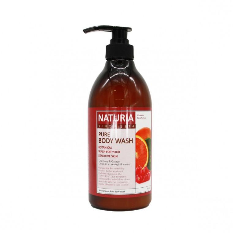 Naturia Pure Body Wash Cranberry & Orange Гель для душа на основе натуральных экстрактов с ароматом сладкого апельсина, клюквы и зеленого яблока