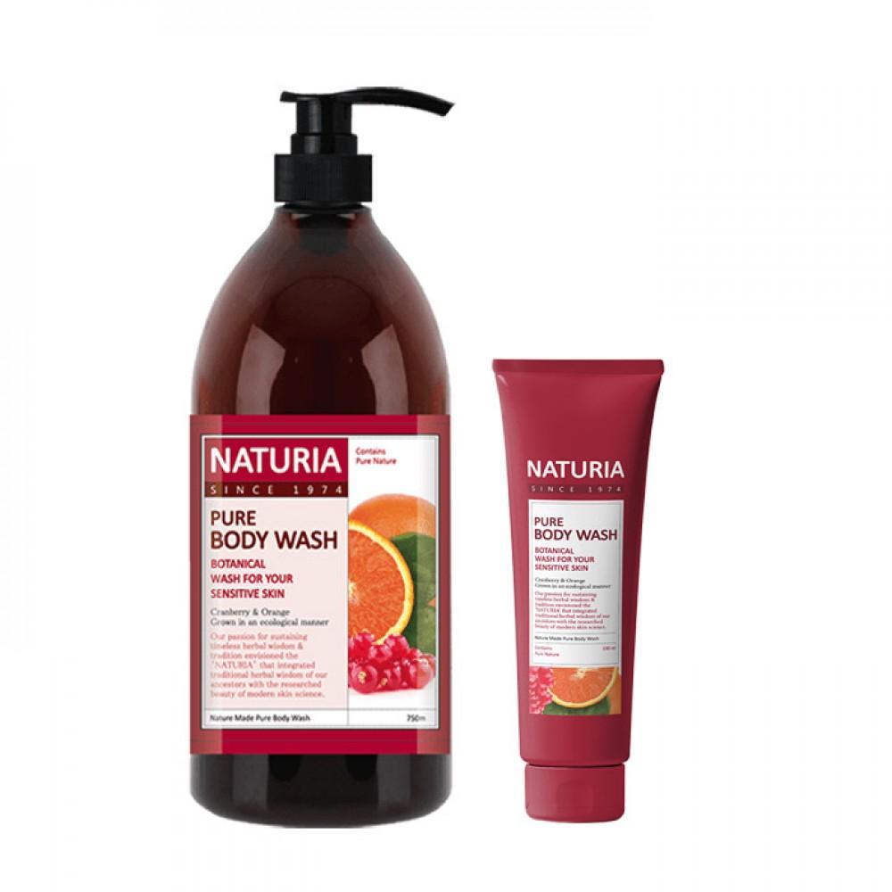 EVAS Naturia Pure Body Wash Cranberry & Orange Гель для душа на основе натуральных экстрактов с ароматом сладкого апельсина, клюквы и зеленого яблока