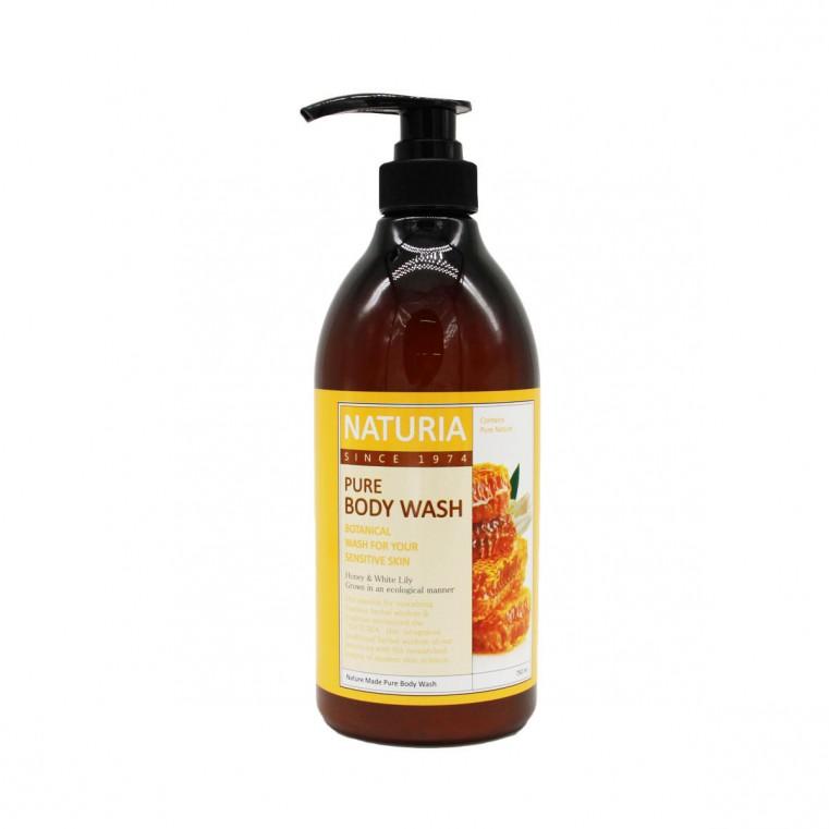 Naturia Pure Body Wash Honey & White Lily Гель для душа на основе натуральных экстрактов с ароматом романтического букета из лилий, нектарина и сладкого меда