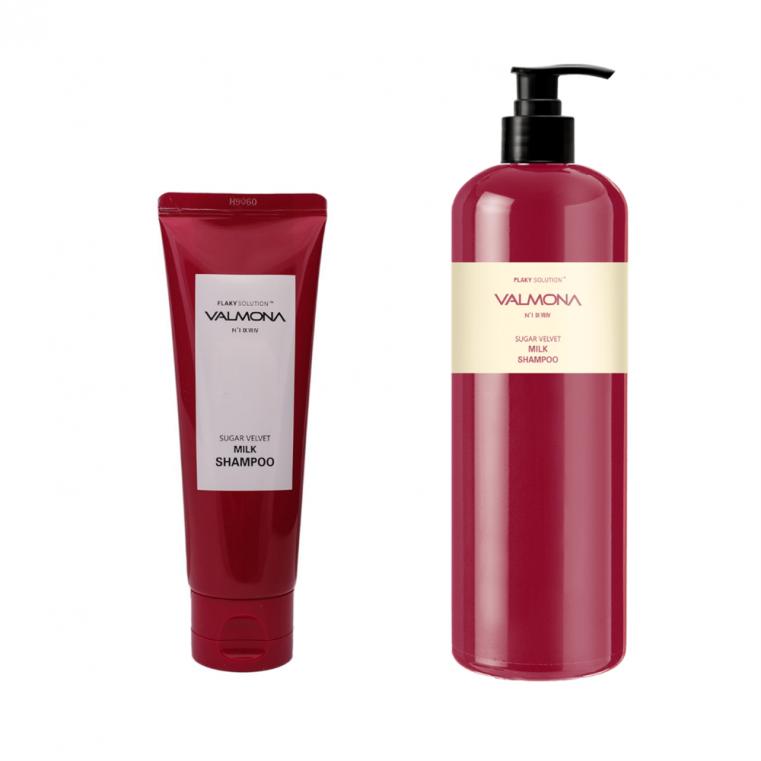 Valmona Sugar Velvet Milk Shampoo Шампунь для увлажнения и оздоровления волос с комплексом из молока и экстрактов ягод