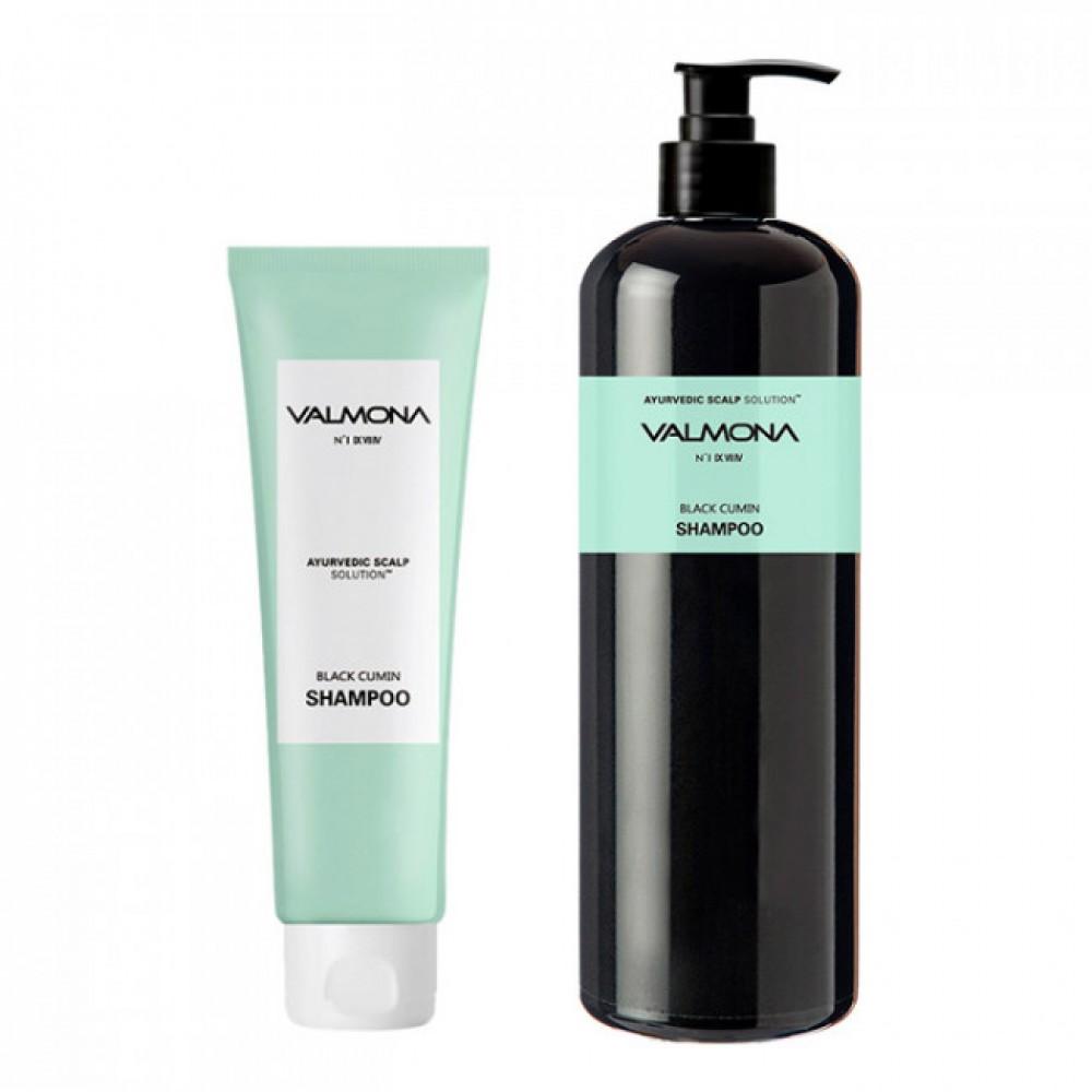 Valmona Ayurvedic Scalp Solution Black Cumin Shampoo Аюрведический шампунь для кожи головы и профилактики выпадения волос