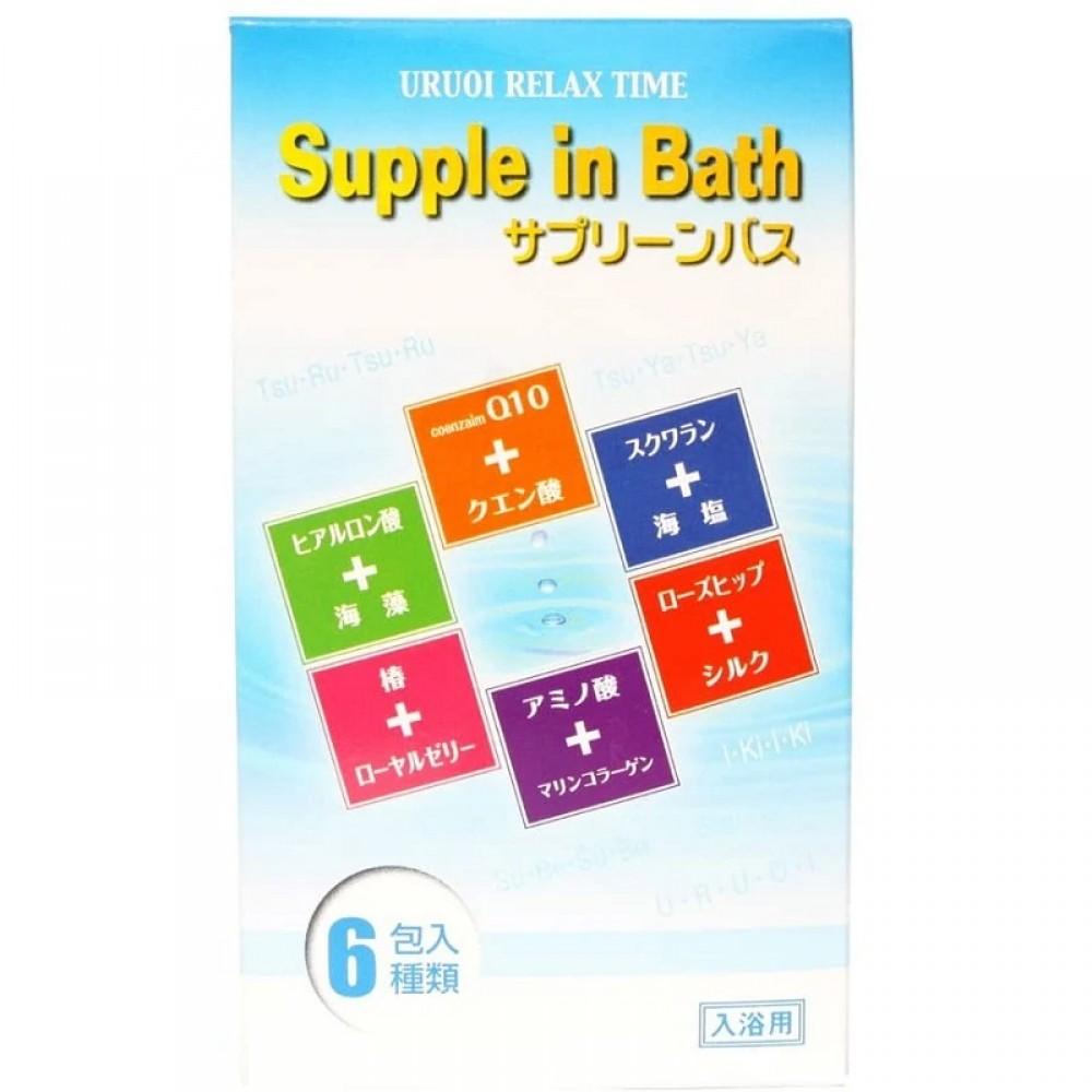 Fuso Kagaku Supple in Bath Соль для ванны с увлажняющим и восстанавливающим эффектами с ароматами моря, винным, розы, лемонграсса, грейпфрута, зеленого яблока