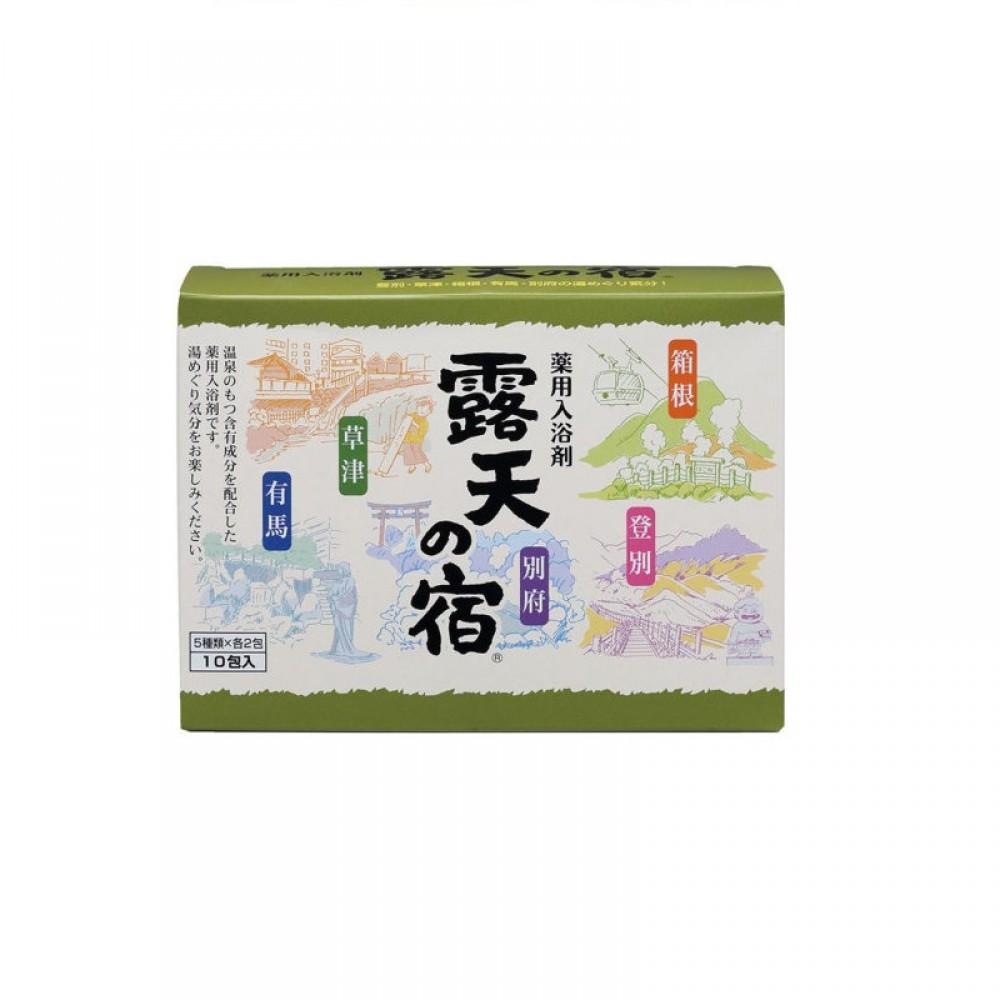 Fuso Kagaku Соль для ванны с минералами пяти термальных источников и ароматами лаванды, юдзу, леса, хвои и цветочного букета