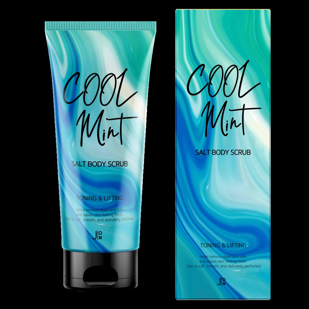 J:ON Cool Mint Salt Body Scrub Солевой антицеллюлитный скраб для тела с ментолом и мятой