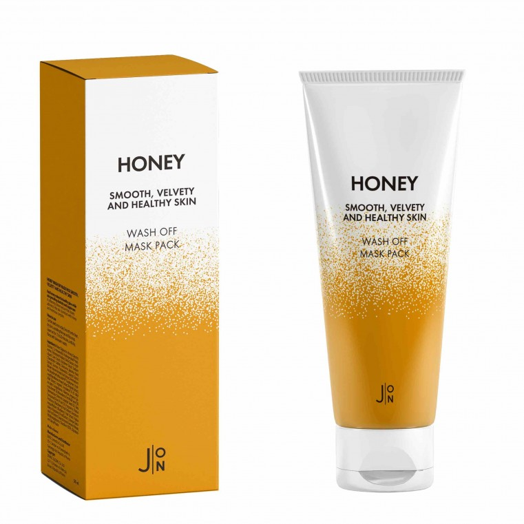 J:ON Honey Smooth Velvety and Healthy Skin Wash Off Mask Pack Смываемая маска с мёдом, 50мл