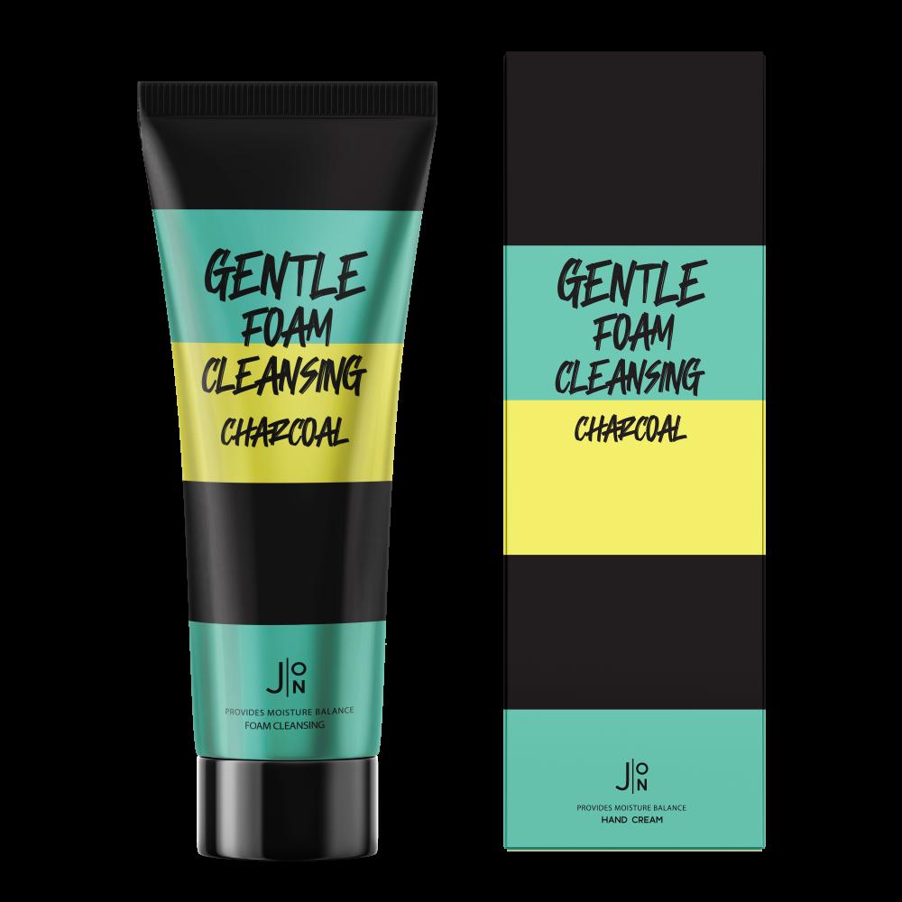 J:ON Gentle Foam Cleansing Charcoal Пенка для умывания с углем