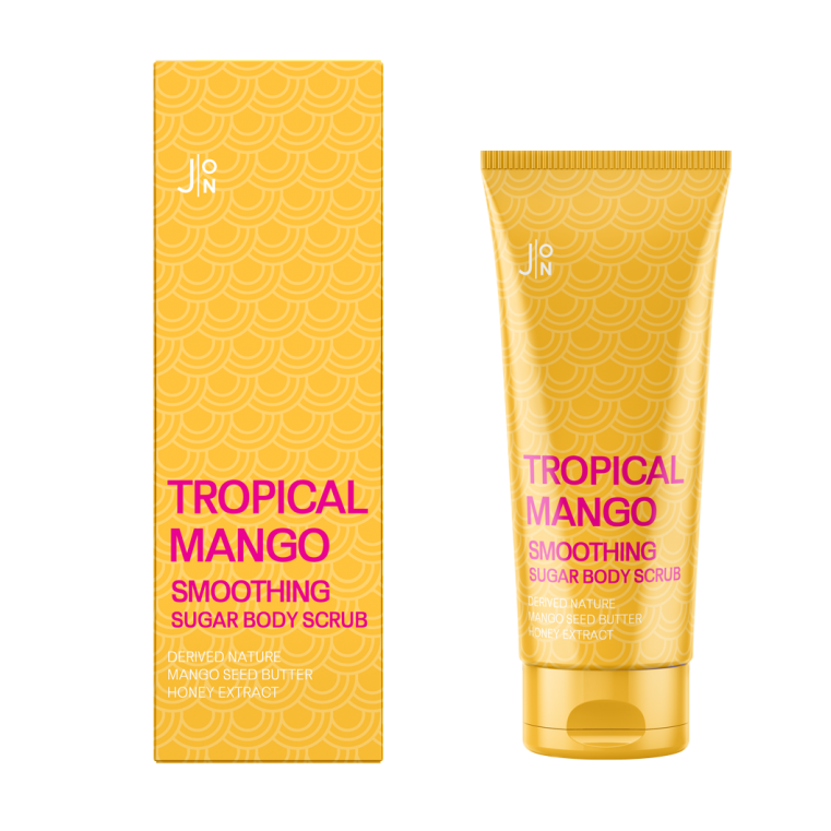 J:on Tropical mango smoothing sugar body scrub Скраб для тела с манго