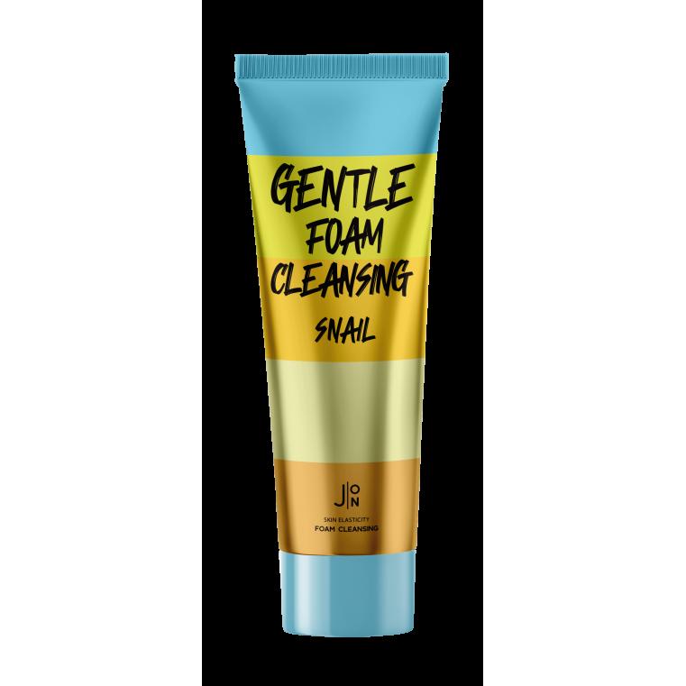 J:ON Gentle Foam Cleansing Snail Мягкая кремовая пенка для очищения кожи лица с муцином улитки и экстрактом алоэ