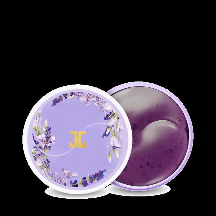 JayJun Lavender Tea Eye Gel Patch Успокаивающие питательные патчи для век с лепестками лаванды