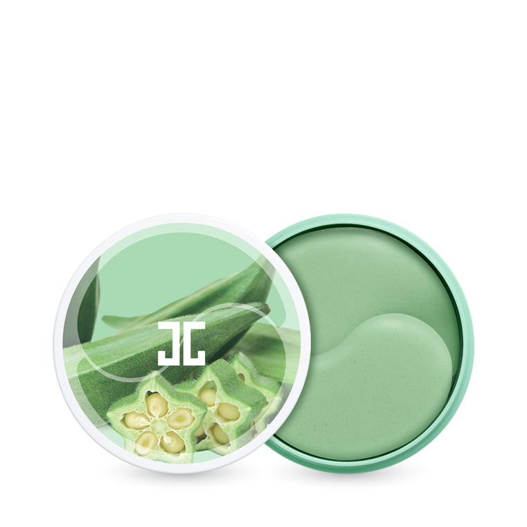 JayJun Okra Green Eye Gel Patch Укрепляющие гидрогелевые патчи с экстрактом плодов окры