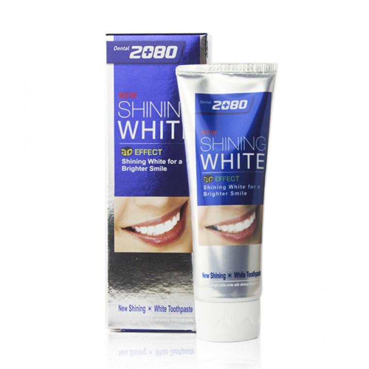 Dental Clinic 2080 Shining White Tooth Paste Отбеливающая зубная паста Сияющая белизна