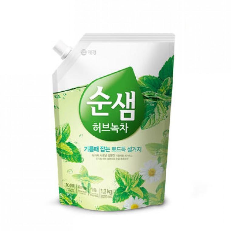 Soonsaem Natural Green Tea СУНСЭМ Зеленый чай Средство для мытья посуды