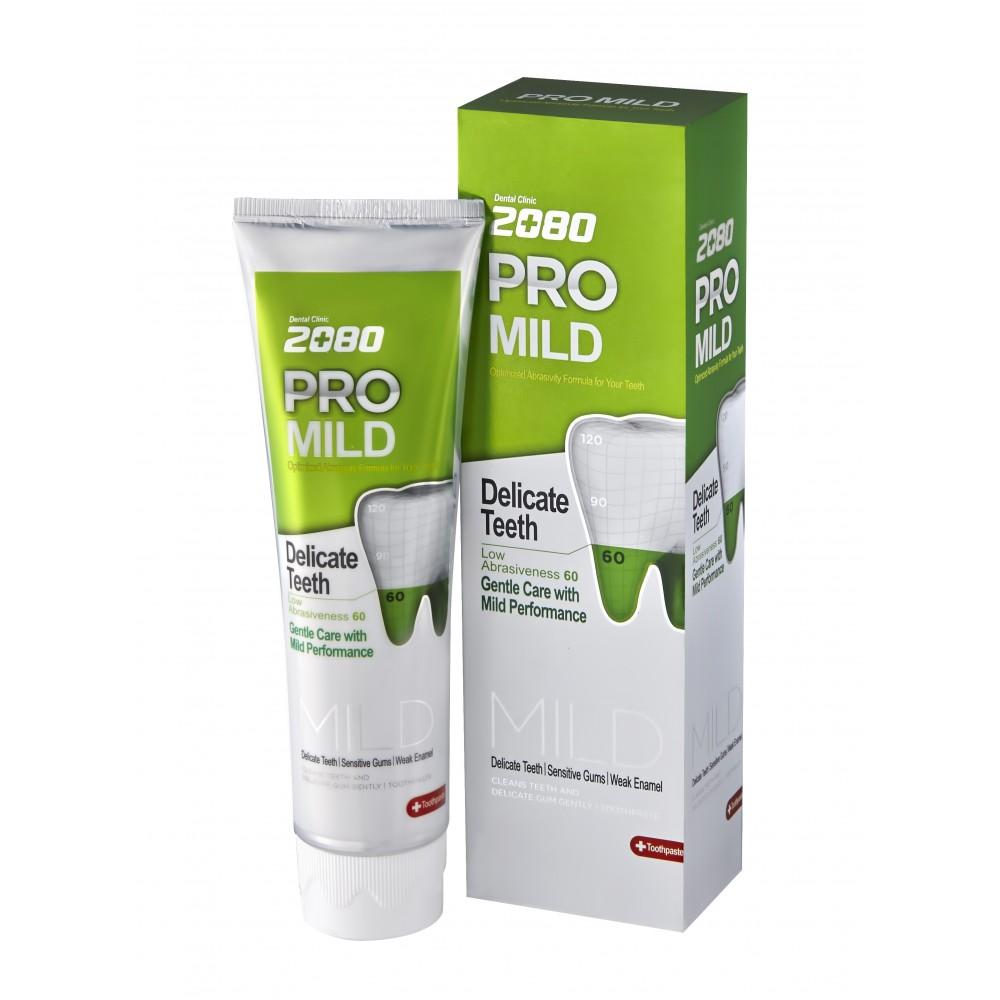 Aekyung Dental Clinic 2080 Pro-Mild Мягкая защита для чувствительных зубов и дёсен - Мятный вкус