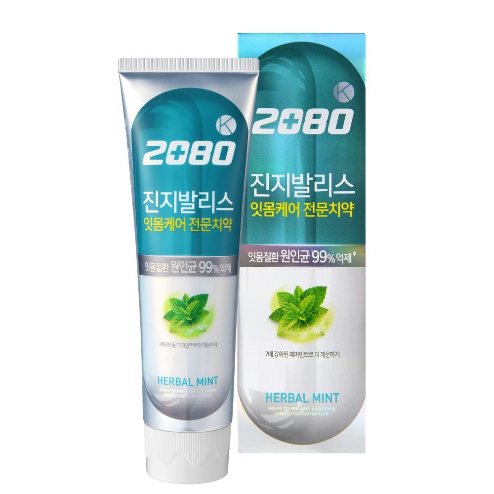 Aekyung Dental Clinic 2080 K Mild антибактериальная Голубая c экстрактом Гинкго билоба