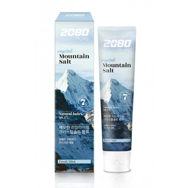 Dental Clinic 2080 Pure Crystal Mountain Salt Toothpaste Fresh Mint  Зубная паста с гималайской солью