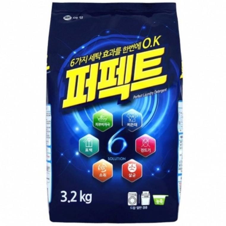 Aekyung Kerasys Perfect Multi Solution Стиральный порошок с кислородным отбеливателем, 3.2 кг