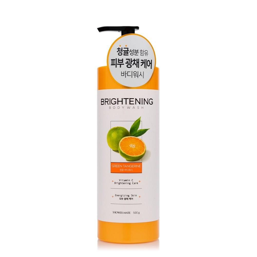 Aekyung Shower Mate Green Tangerine Brightening Body Wash Гель для душа Заряд энергии
