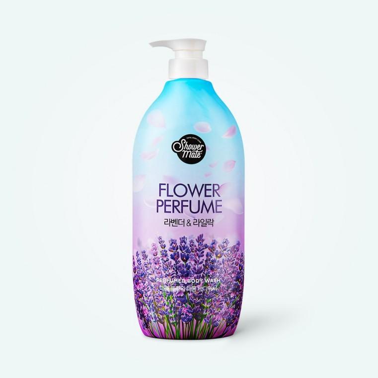 KeraSys Shower Mate Purple Flower Perfumed Body Wash Lavender Гель для душа с лавандой