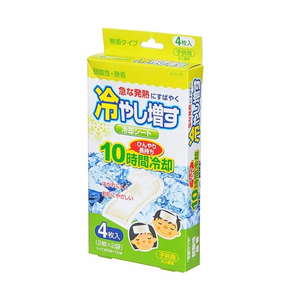 Kiyou Jochugiku Пластырь охлаждающий 5 х 12 см 4 шт