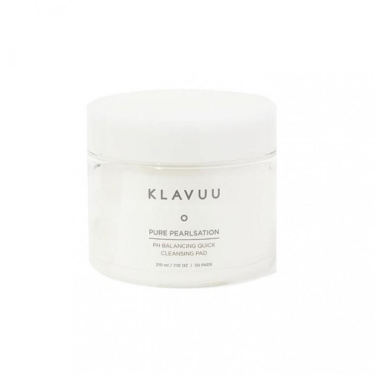 KLAVUU Pure Pearlsation PH Balancing Quick Cleansing Pad Очищающие балансирующие пэды с экстрактом жемчуга