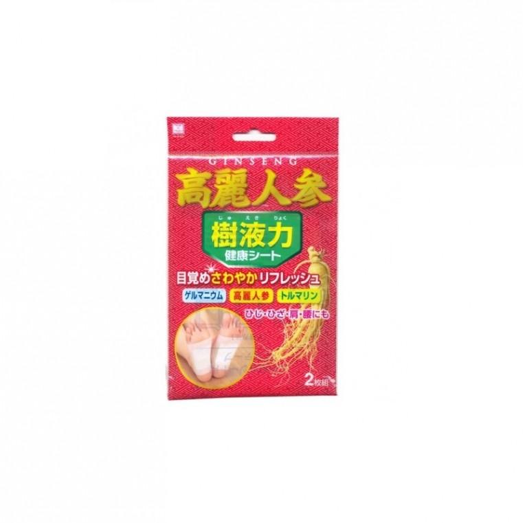 Kokubo Шлаковыводящий пластырь экстрактом женьшеня, способствует вылечиванию больных органов, укреплению печени